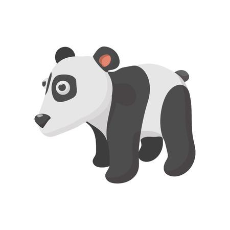 one panda: Panda in cartoon style isolated on white background