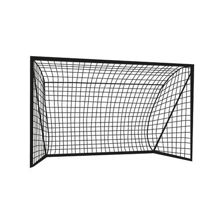 Football goal silhouette isolated on white background