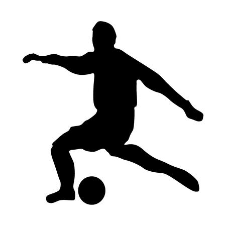 arquero futbol: silueta de portero de fútbol aislado en el fondo blanco Vectores