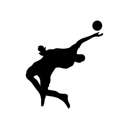 silueta de portero de fútbol aislado en el fondo blanco