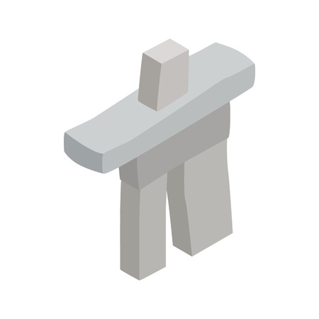 inukshuk: Inukshuk in Canada icon in isometric 3d style on a white background