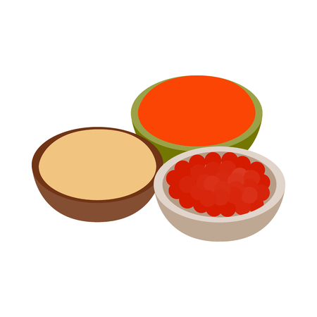 indian spices: Indian spices icon in isometric 3d style on a white background