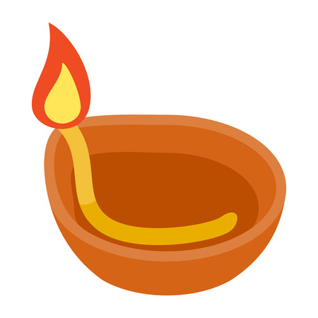 Coconut oil lamp icon in isometric 3d style on a white background
