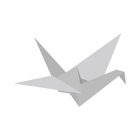 3d dove: Paper Dove icon in isometric 3d style on a white  background