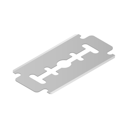 dangerous man: Razor blade icon in isometric 3d style on a white  background