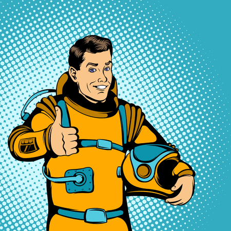 farewell: Astronaut concept in comics style for any design