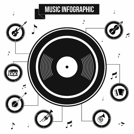 new age music: Music infographic in simple style for any design Illustration