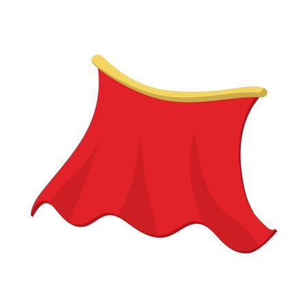 Red icône de cape dans le style de bande dessinée sur un fond blanc Illustration