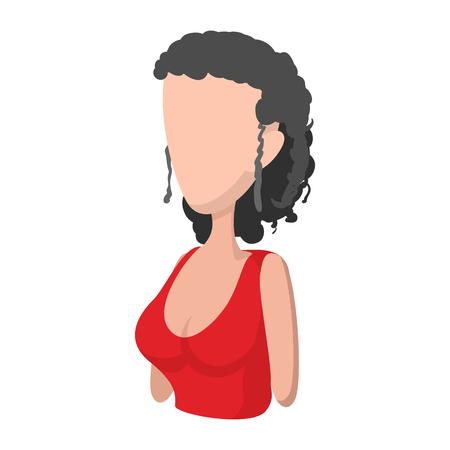 spaniard: Spaniard icon in cartoon style on a white background