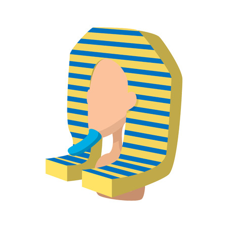 tutankhamen: Scarab icon in cartoon style on a white background Illustration