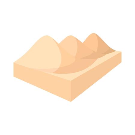 gobi: Sahara desert icon in cartoon style on a white background