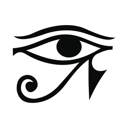 ancient papyrus: Eye of Horus icon in simple style isolated on white background