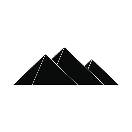 Pyramides d'Egypte icône dans un style simple isolé sur fond blanc Illustration