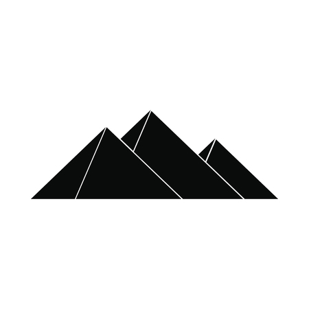 Pyramids of Egypt icon in simple style isolated on white background Illustration