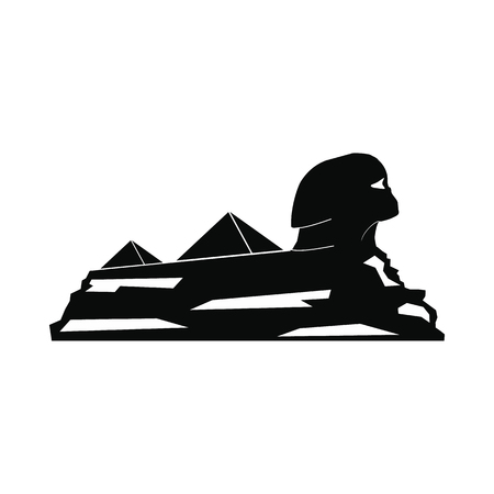cheops: Sphinx icon in simple style isolated on white background