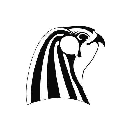 horus: Horus icon in simple style isolated on white background