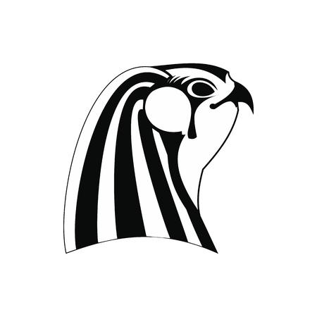 horus: icono de Horus en estilo simple aislado en el fondo blanco