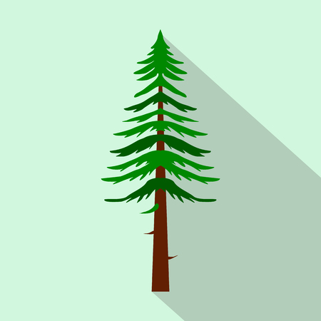 canadian pacific: Canadian fir icon in flat style on a light blue background