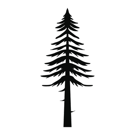 national parks: Canadian fir icon in simple style isolated on white background Illustration