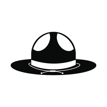 english countryside: Cowboy hat icon in simple style isolated on white background