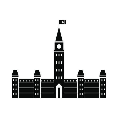 senator: Parliament Buildings, Ottawa icon in simple style isolated on white background