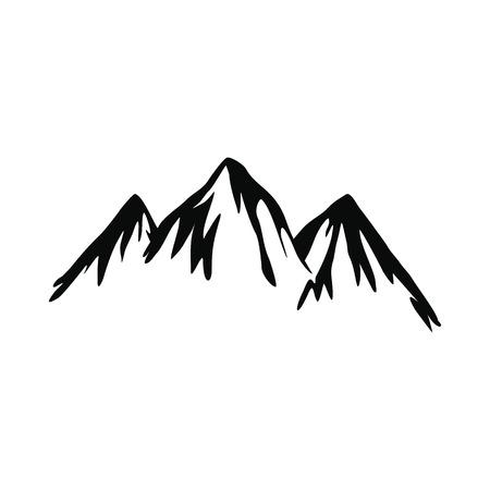 icône de montagne dans un style simple isolé sur fond blanc Illustration