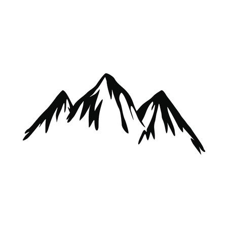 Mountain icon in simple style isolated on white background Illustration