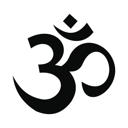 om: Hindu om symbol icon in simple style isolated on white background Illustration