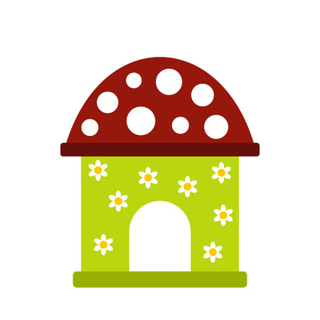 toy house: Toy house icon in flat style isolated on white background