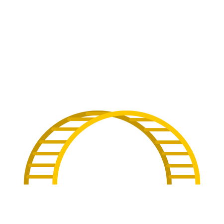 climbing stairs: Climbing stairs icon in flat style isolated on white background Illustration