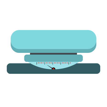 analog weight scale: Weight scale icon in flat style isolated on white background