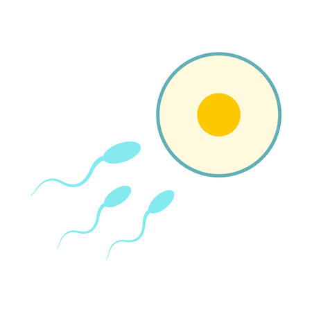 antigen: Donor sperm icon in flat style isolated on white background Illustration