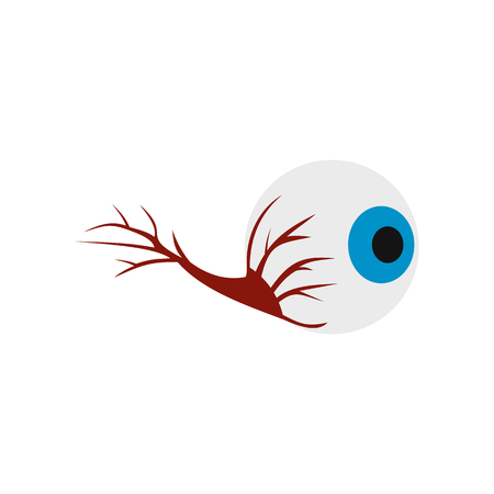 focus on shadow: Eyeball icon in flat style isolated on white background Illustration