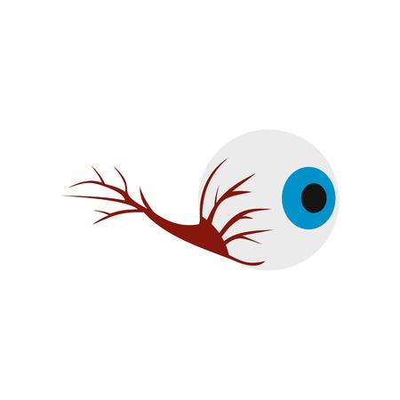 globo ocular: icono de globo ocular en el estilo plano aislado en el fondo blanco