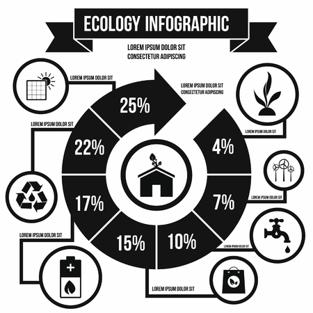 ecology icons: Ecology Infographic in simple style for any design