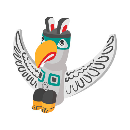 northwest: A colorful totem pole icon in cartoon style on a white background