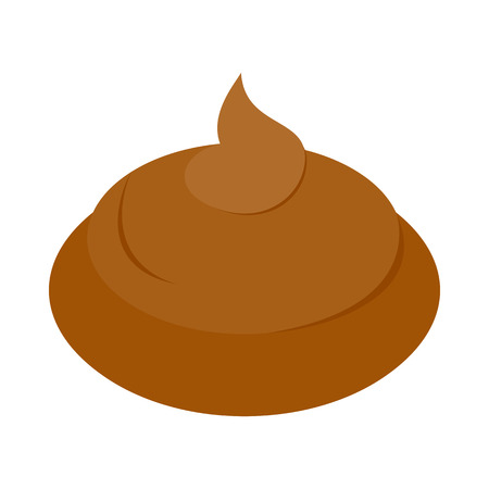bum: Poop icon in isometric 3d style on a white background