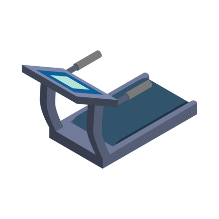 home equipment: Treadmill icon in isometric 3d style on a white background Illustration