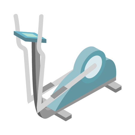 elliptical: Elliptical walker trainer icon in isometric 3d style on a white background