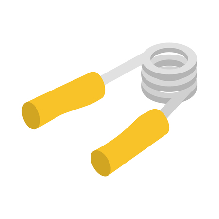 hand grip: Hand grip exerciser or trainer icon in isometric 3d style on a white background