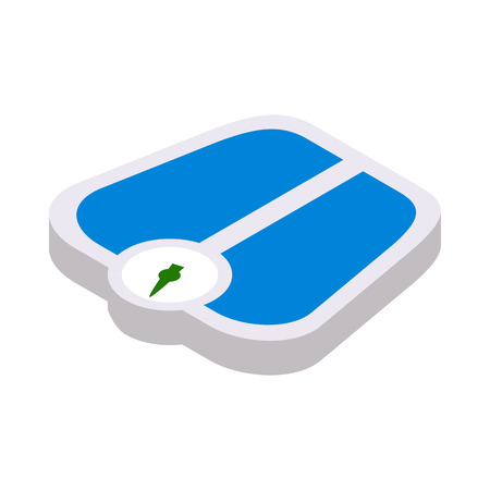 bathroom weight scale: Weight scale icon in isometric 3d style on a white background
