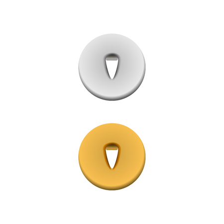 pushpins: Metal pushpins icon in realistic style on a white background
