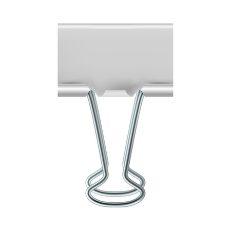 binder clip: Binder clip icon in realistic style on a white background