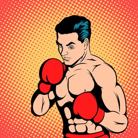 boxeador: concepto del boxeador en el estilo de los cómics para cualquier diseño