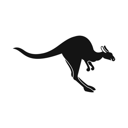 roo: Kangaroo icon in simple style isolated on white background Illustration