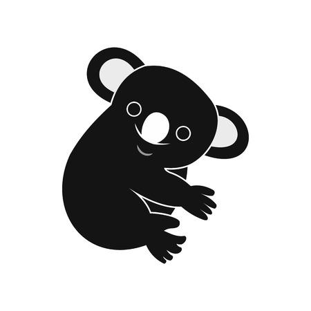 koala: icono de la koala en un estilo sencillo aislado en el fondo blanco