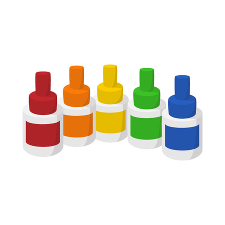 vaporized: Bottles of flavor for electronic cigarette icon in cartoon style on a white  background