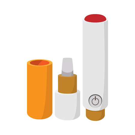 filler: Electronic cigarette icon in cartoon style on a white  background Illustration
