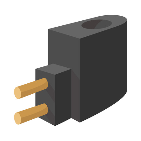 vaporized: Charger for electronic cigarette icon in cartoon style on a white  background Illustration