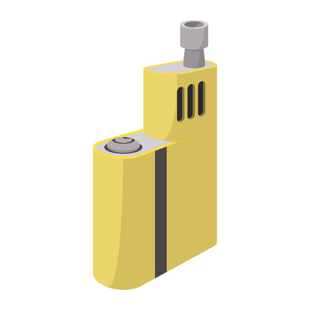 vaporizer: Vaporizer device icon in cartoon style on a white  background